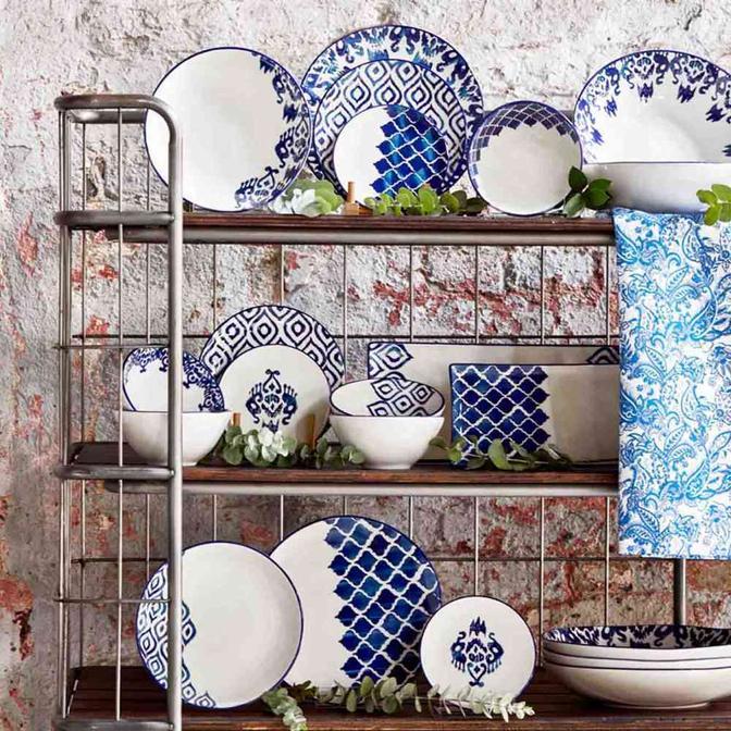 Blue Tile Seramik 24 Parça 6 Kişilik Yemek Takımı