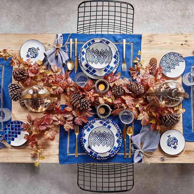 Blue Tile Seramik 48 Parça 12 Kişilik Yemek Takımı