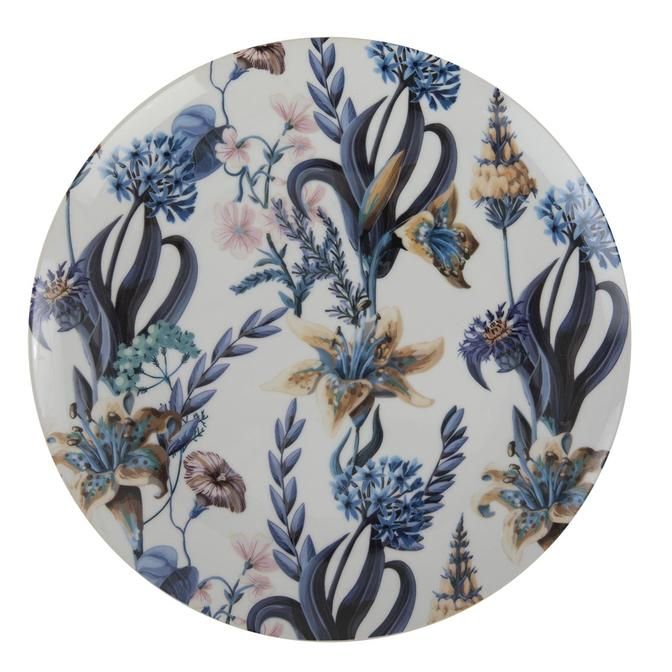 Berthe Porselen Servis Tabağı Mavi 6'lı (27 cm)