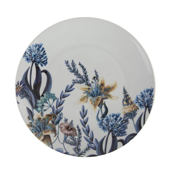 Berthe Porselen Pasta Tabağı Mavi 6'lı (21 cm)