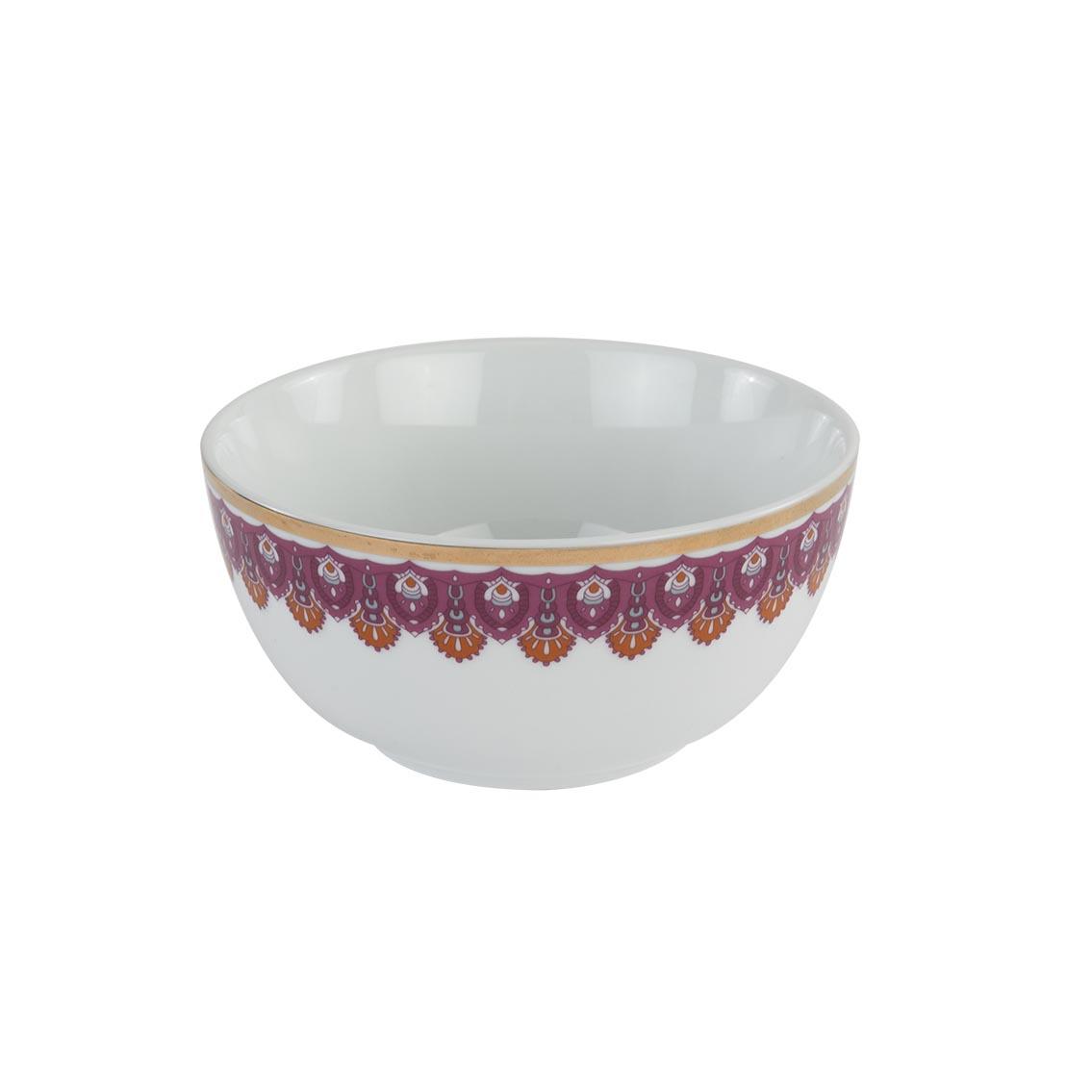 Gypsy Porselen Çorba Kasesi Pembe 6'lı (14 cm)