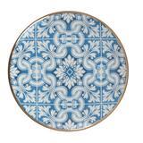 Azul Porselen Pasta Tabağı Mavi 6'lı (21 cm)