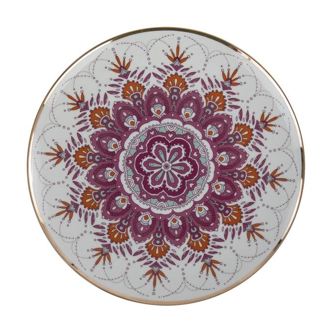 Gypsy Porselen Servis Tabağı Pembe 6'lı (27 cm)