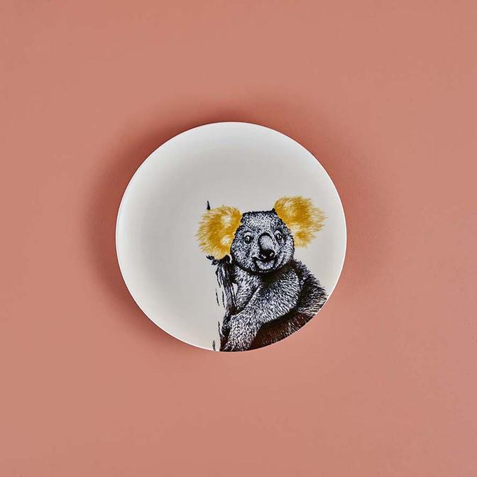 Safari Koala Porselen Servis Tabağı (26 cm)