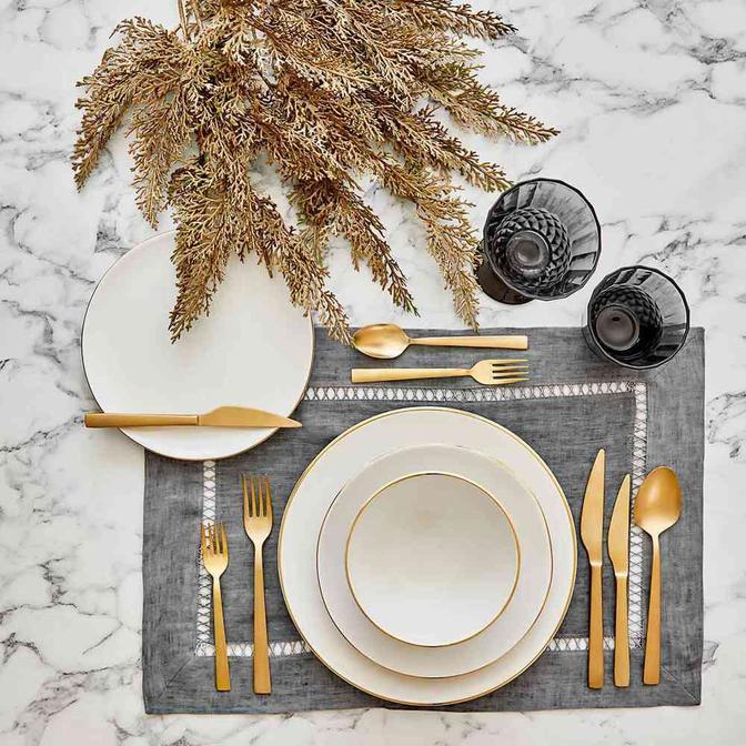 Allure Seramik 24 Parça 6 Kişilik Yemek Takımı Beyaz