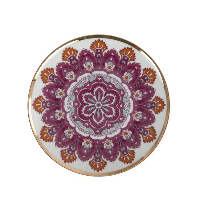 Gypsy Porselen Pasta Tabağı Pembe 6'lı (21 cm)