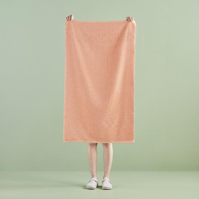 %100 Pamuk Helena Banyo Havlusu Somon (70x120 cm)