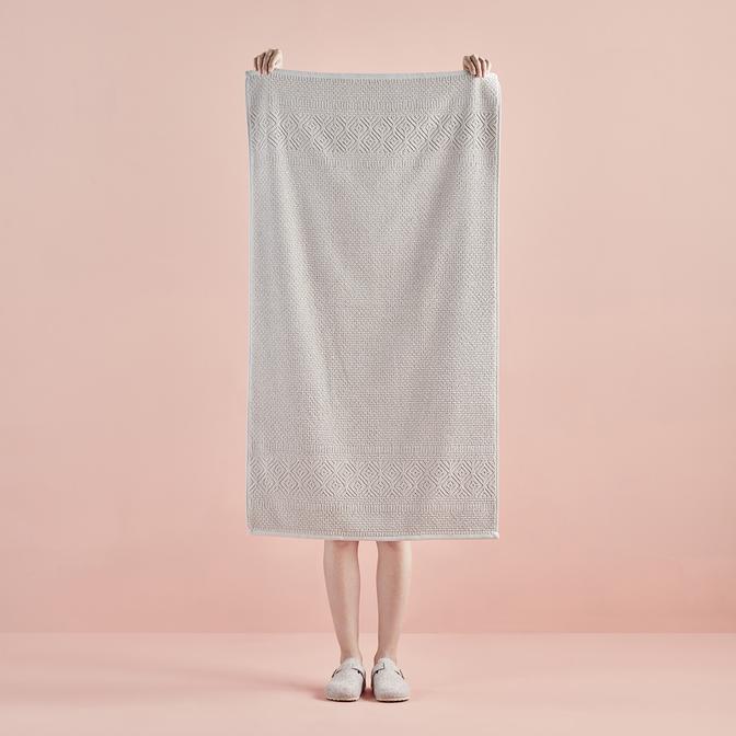 %100 Pamuk Helena Banyo Havlusu Bej (70x120 cm)