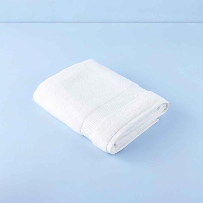 %100 Pamuk Premium Banyo Havlusu Ekru (90x150 cm)