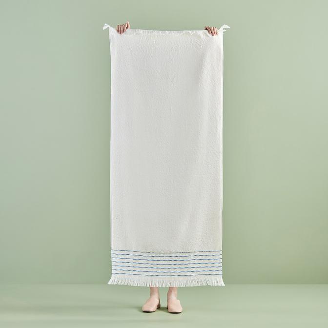 %100 Pamuk Hamptons Banyo Havlusu Mavi (70x150 cm)