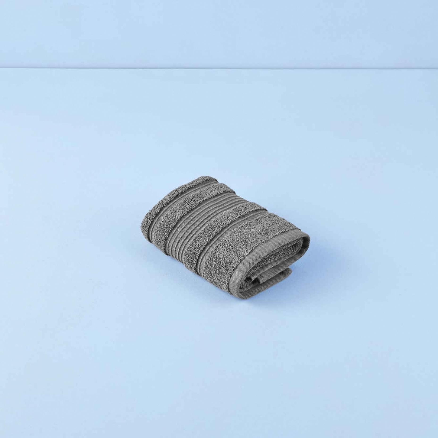 %100 Pamuk Soft Yüz Havlusu Gri (40x78 cm)
