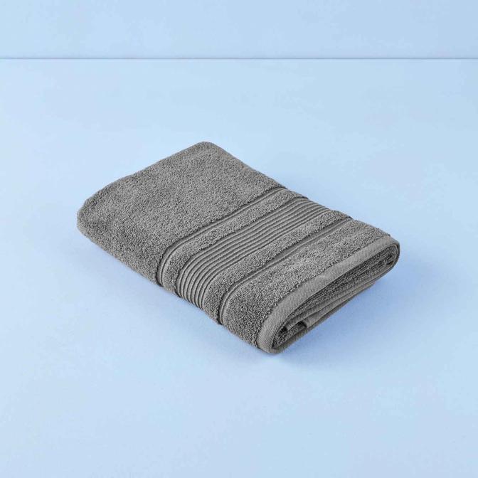%100 Pamuk Soft Banyo Havlusu Gri (69x139 cm)