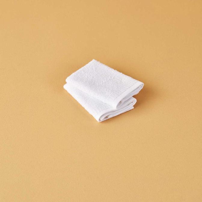 %100 Pamuk Bill 2'li El Havlusu Beyaz (30x30 cm)