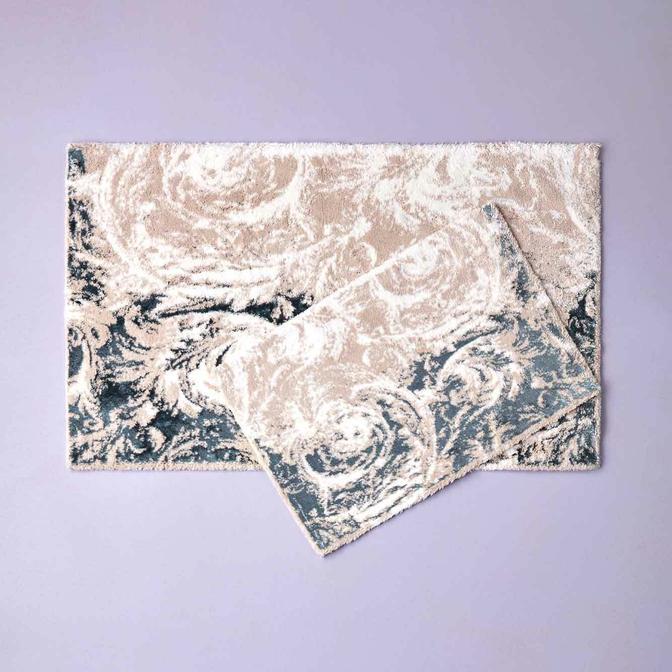 Abri 2li Paspas Takımı Mavi (60x100 cm)