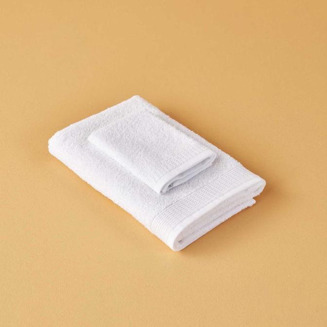 %100 Pamuk Bill Yüz Havlusu Beyaz (50x75 cm)