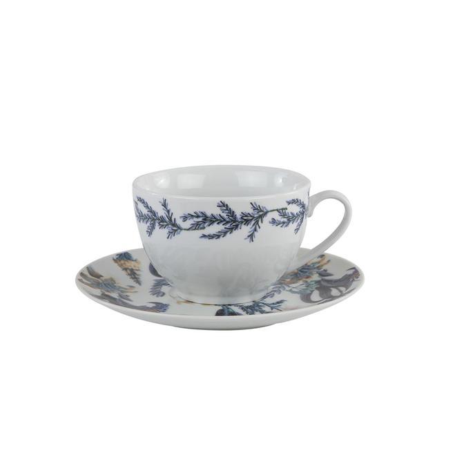 Berthe Porselen Çay Fincan Seti Mavi (2'li)
