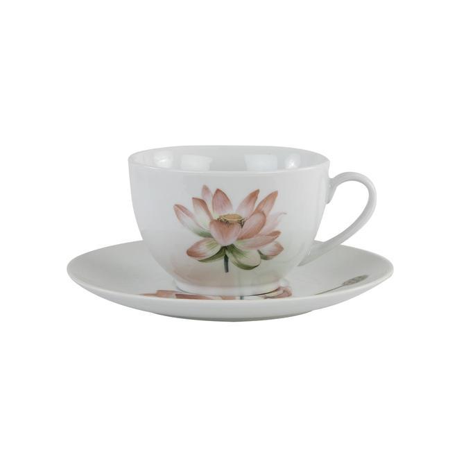 Lotus Porselen Çay Fincan Seti Yeşil (2'li)