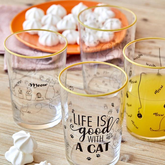 Cats Meşrubat Bardağı 4'lü (510 cc)