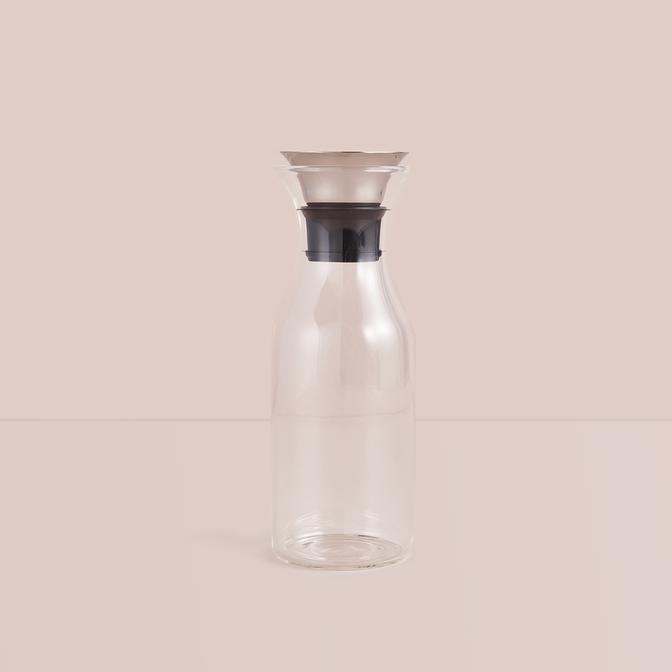 Otomatik Kapaklı Cam Sürahi (1000 ml)