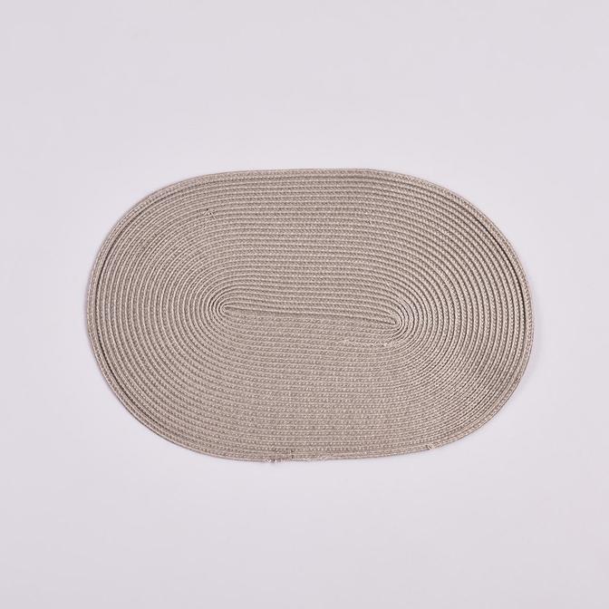 Circum Oval Amerikan Servis Gri (44x30x2 cm)
