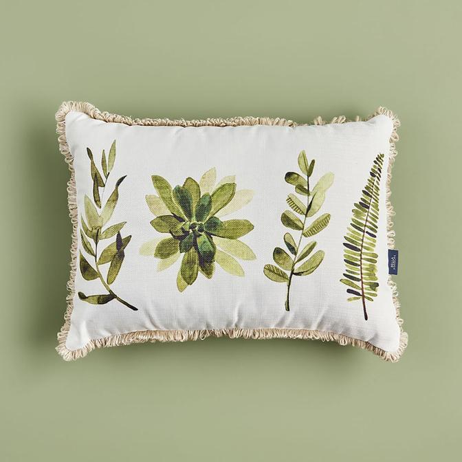 Flores Kırlent Yeşil (35x50 cm)