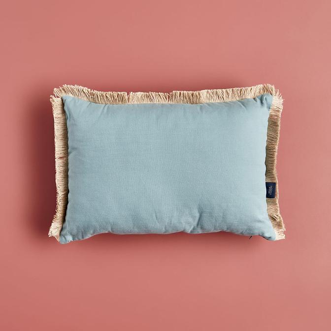 %100 Pamuk Coleton Kırlent Mavi (35x50 cm)