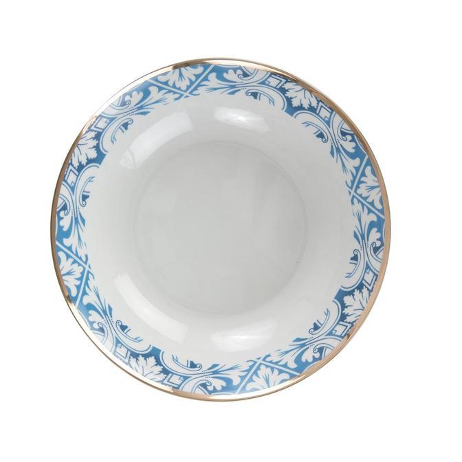 Azul Porselen Yemek Tabağı Mavi 6'lı (20,5 cm)