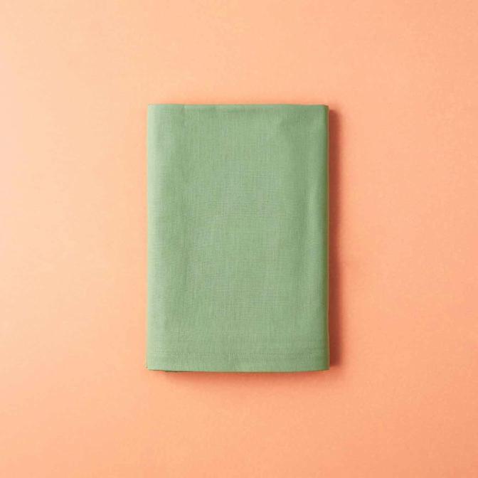 %100 Pamuk Saten Tek Kişilik Çarşaf Açık Yeşil 160x240 cm