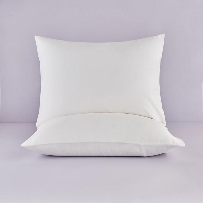 %100 Pamuk Saten Krem Yastık Kılıfı 50x70 cm (2 adet)