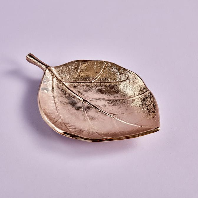 Fig Leaf Dekoratif Tabak Gold (4x20x27 cm)