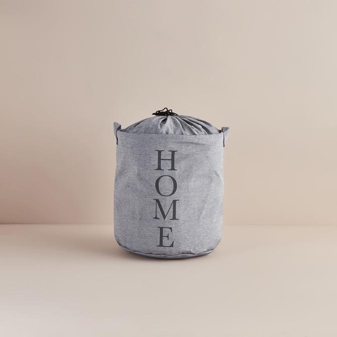 Ocean Home Baskılı Çok Amaçlı Sepet Gri (36x40 cm)