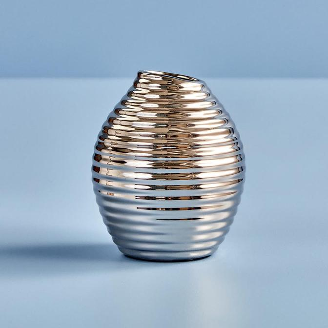 Striped Silver Vazo (13 cm)