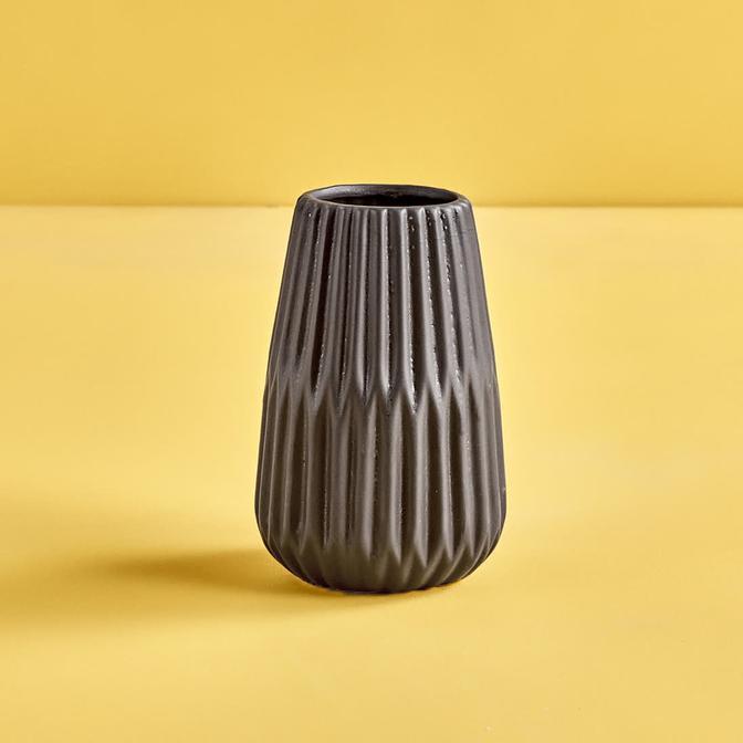 Lenta Vazo Siyah (17x8 cm)