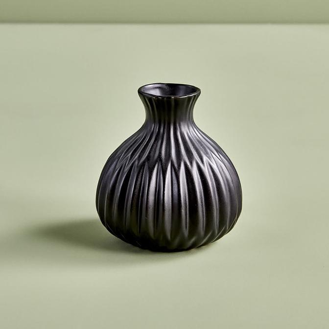 Teskon Vazo Siyah( 11x8 cm)