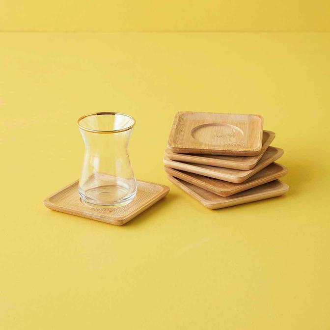 Bambu Kare Çay Tabağı (60x6x10,5 cm)