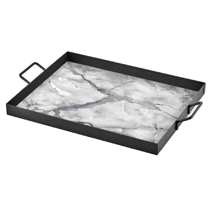 Marbre Beyaz  Tepsi (40x30 cm)