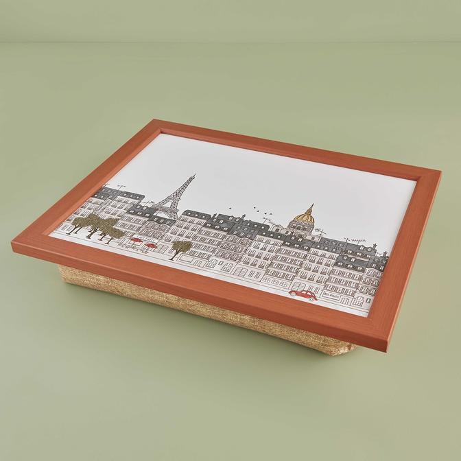 Paris Minderli Diz Tepsisi Kahverengi (49x37,5x8 cm)
