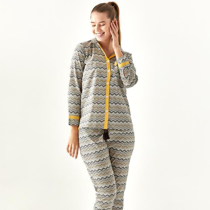 %100 Pamuk Etniko Pijama Altı