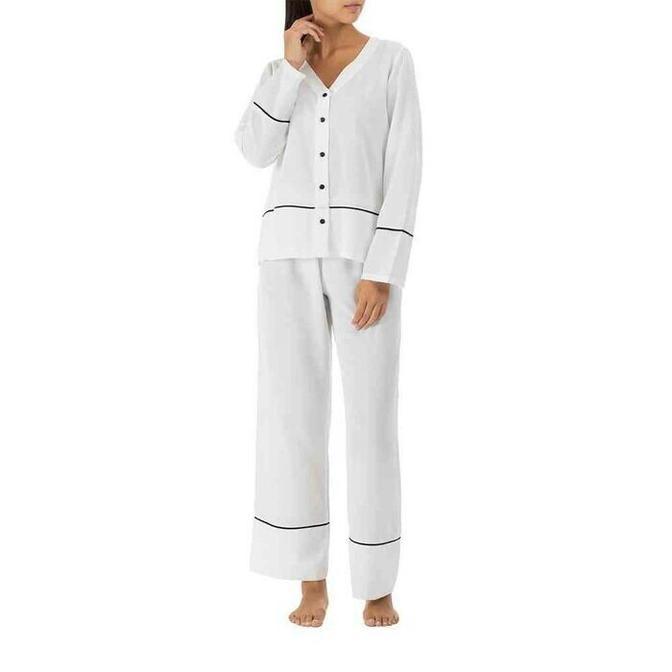 %100 Polyester Morbido Ekru Pijama Altı