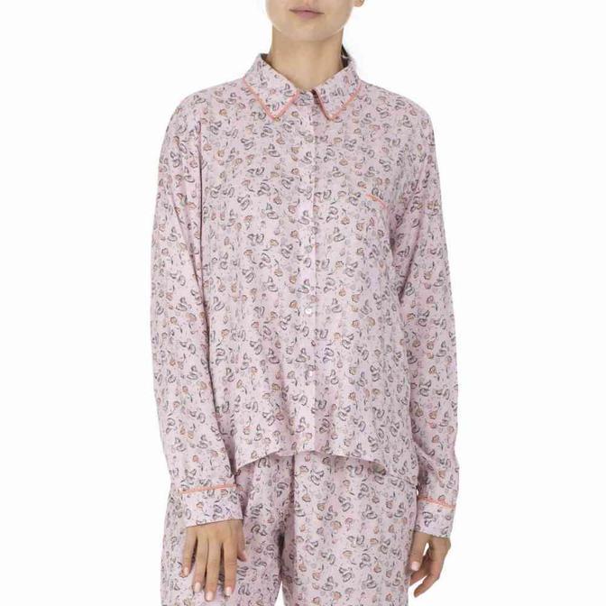 %100 Viskon Kahlo Pijama Üstü