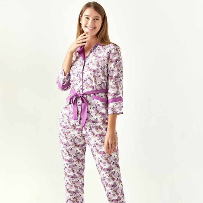 %100 Viskon Liberty Pijama Üstü