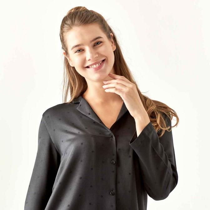 Spark Siyah Pijama Üstü