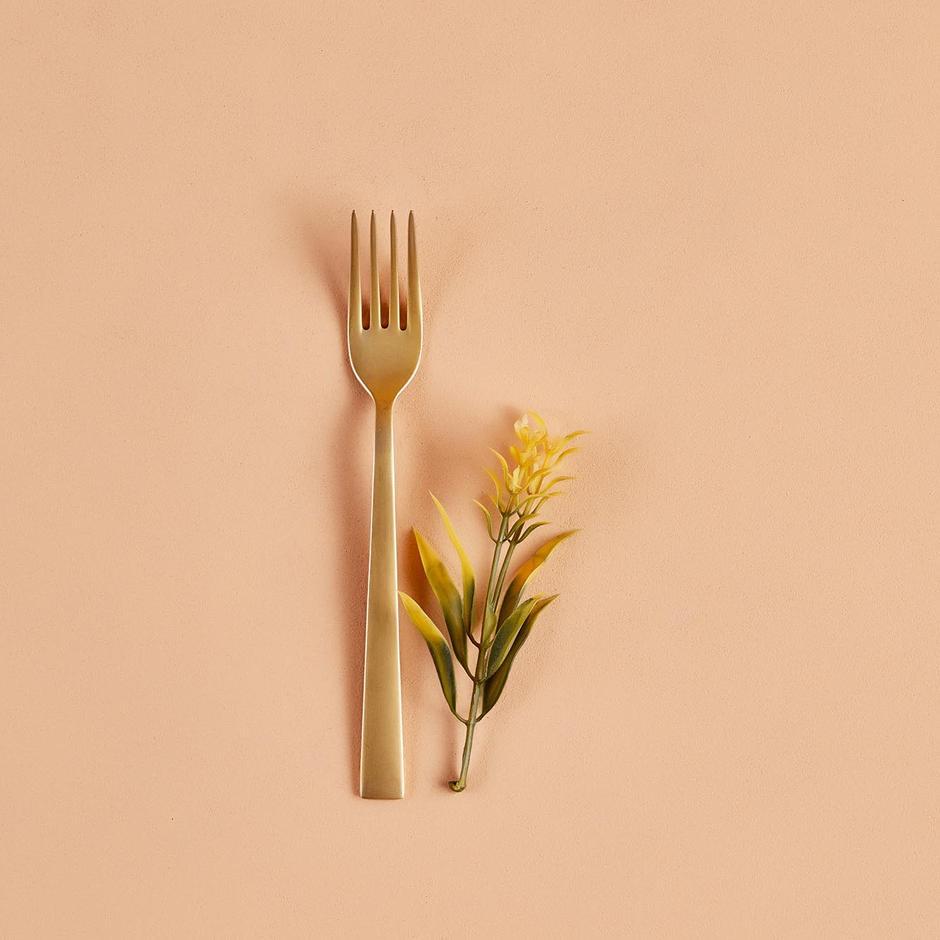 Gold Yemek Çatalı 6'lı
