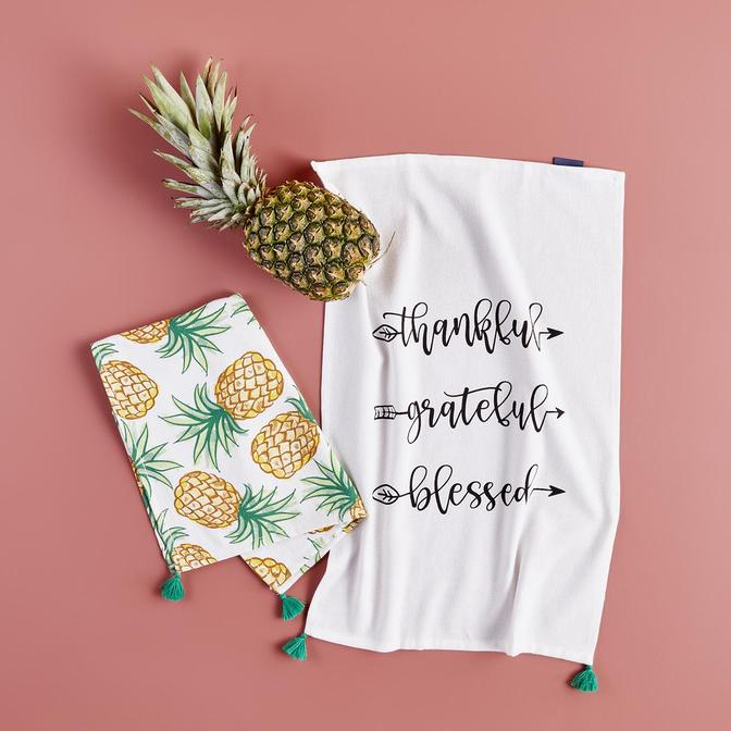%100 Pamuk Pineapple 2'li  Mutfak Havlusu