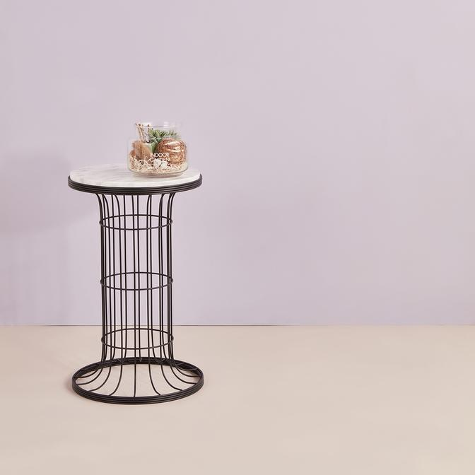 Cemre Sehpa Siyah Mermer (35x58 cm)
