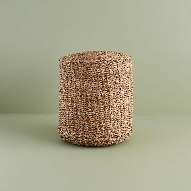 Ginny Yuvarlak Puf Kahverengi (40 cm)