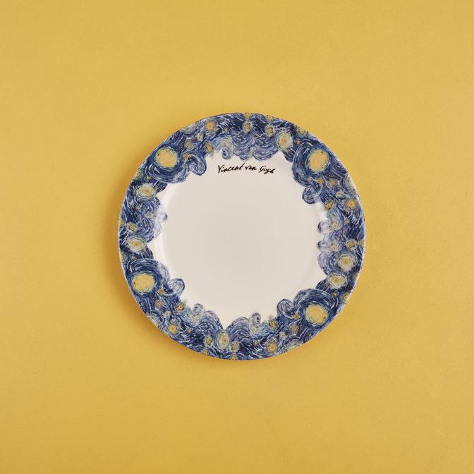 Van Gogh Stoneware Pasta Tabağı Mavi (19,5 cm)