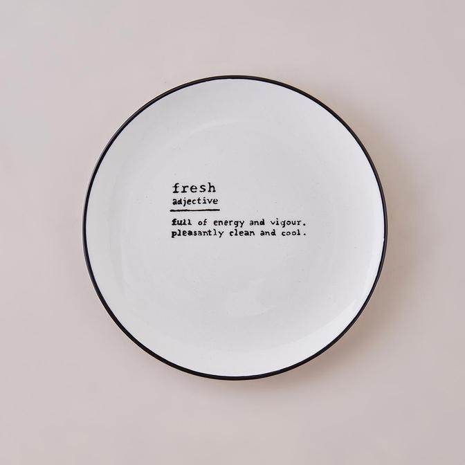 Fresh Word Pasta Tabağı Siyah (21 cm)