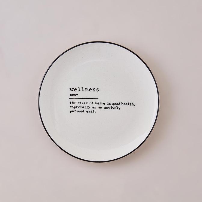 Wellness Word Pasta Tabağı Siyah (21 cm)