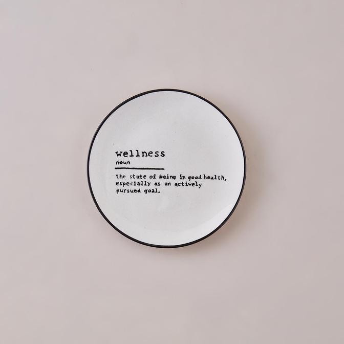 Wellness Word Tatlı Tabağı Siyah (16 cm)